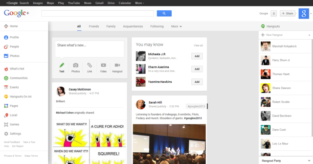 Google+_interface